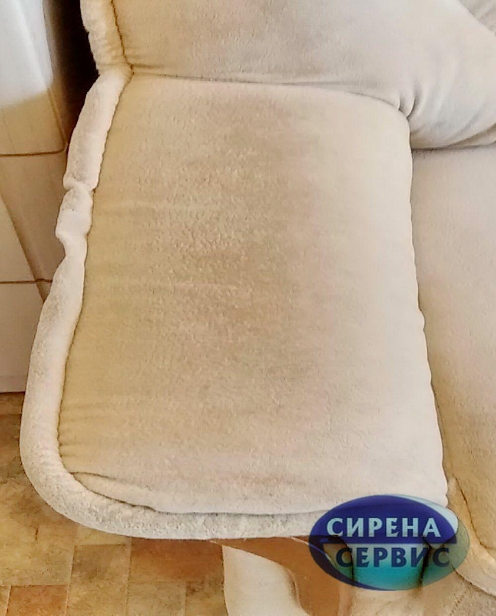 Чистка дивана на дому до и после